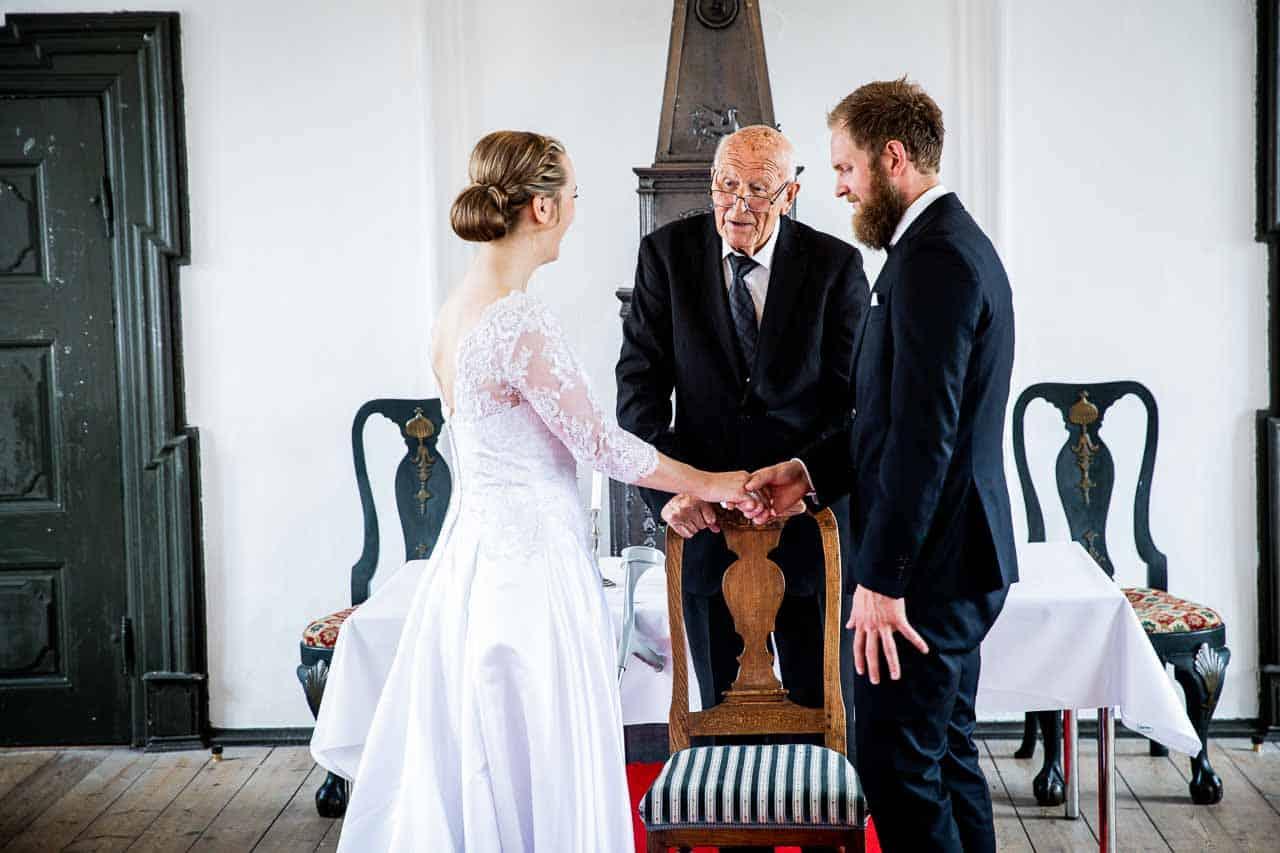 herregården Nørre Vosborg og valgte at holde deres bryllup