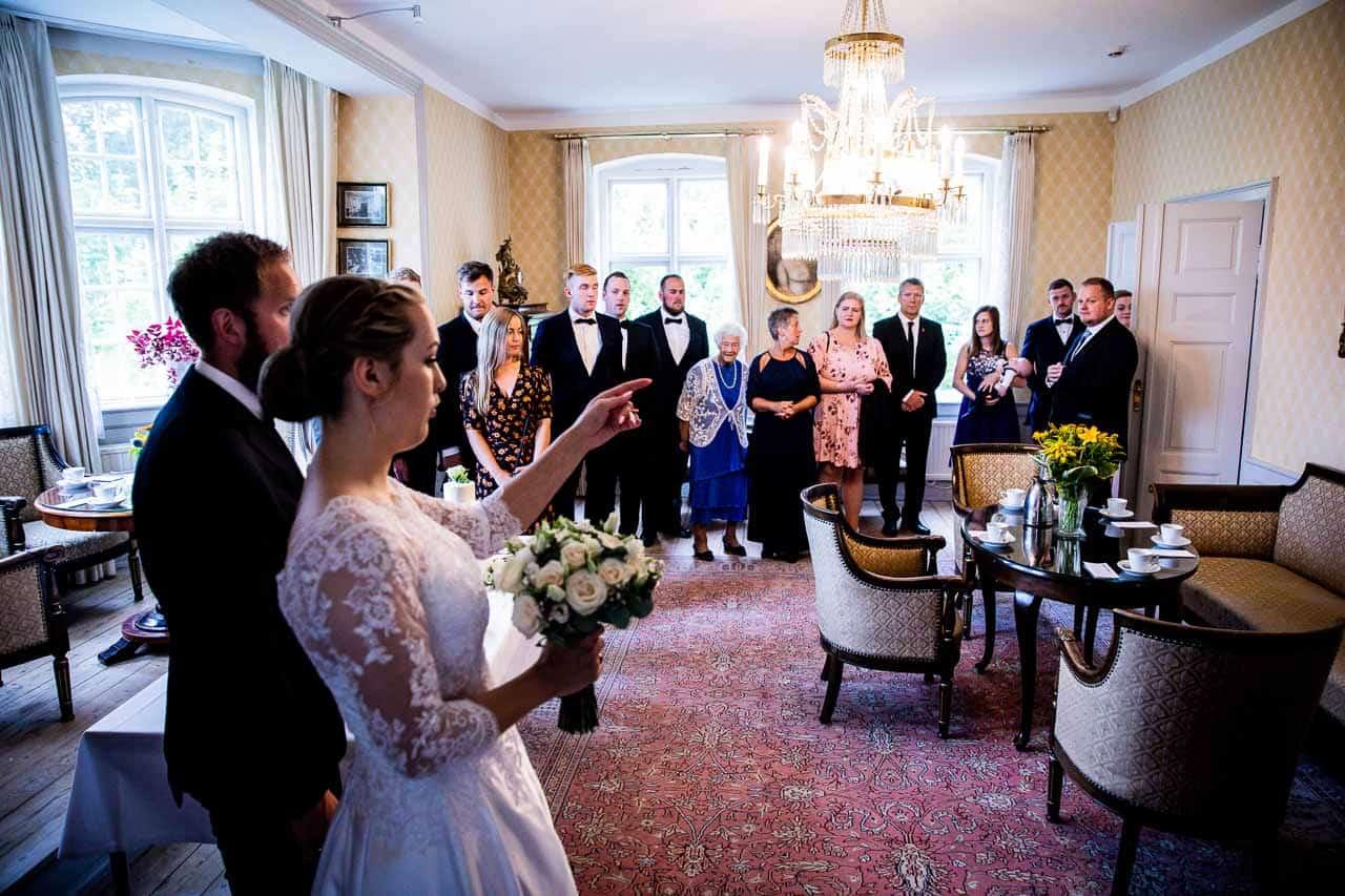 Nørre Vosborg efter sit bryllup