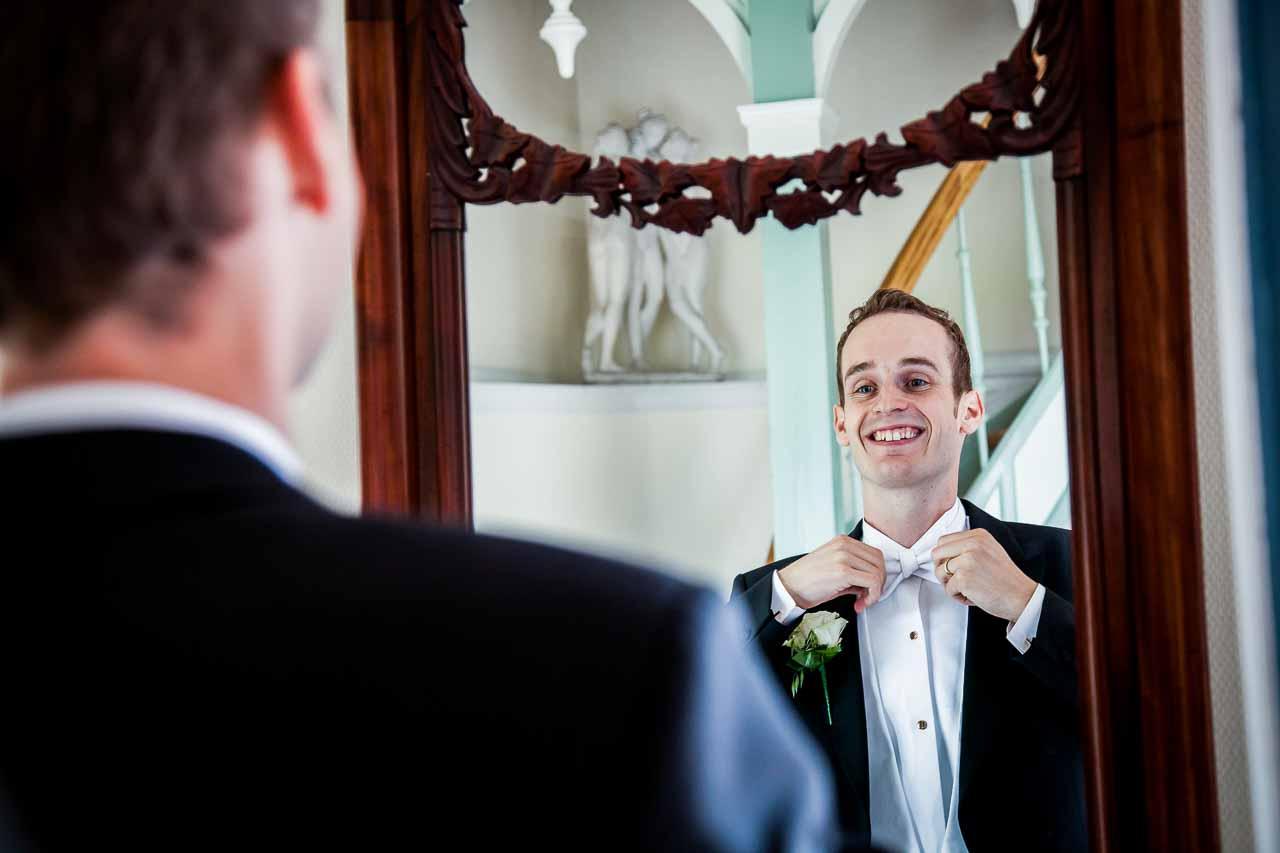 brudgommen slips eller butterfly