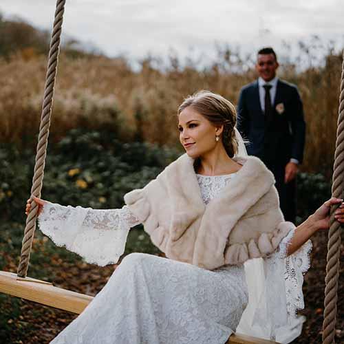 brudepar bryllupsfoto
