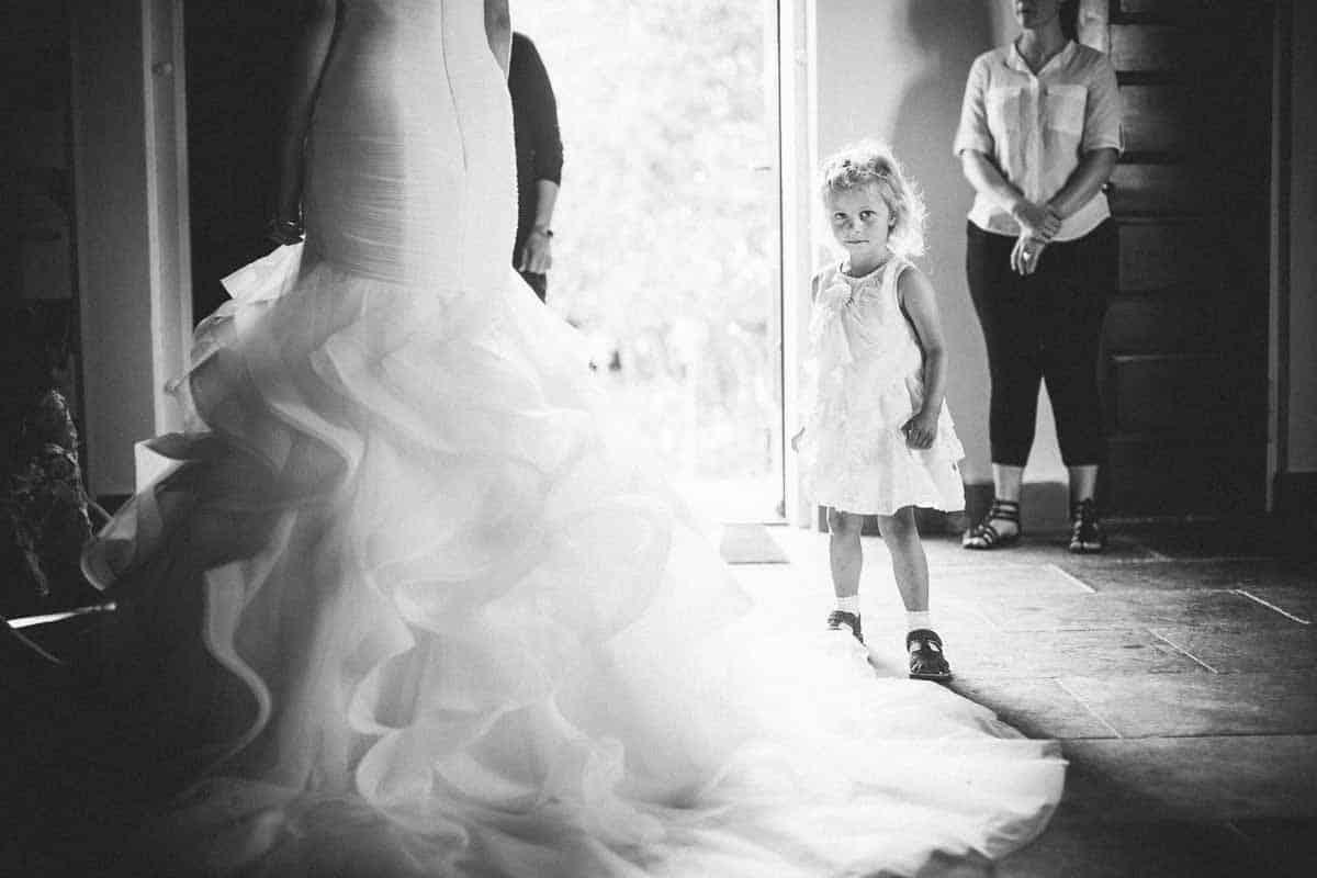 Brudekjolen er traditionelt hvid