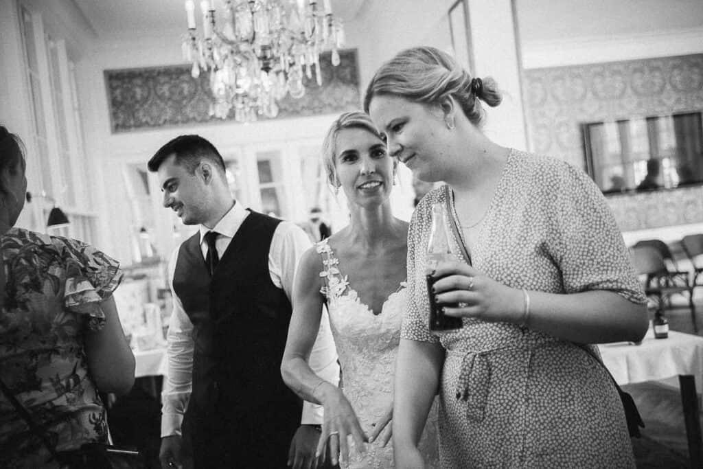 bryllup på en flot restaurant