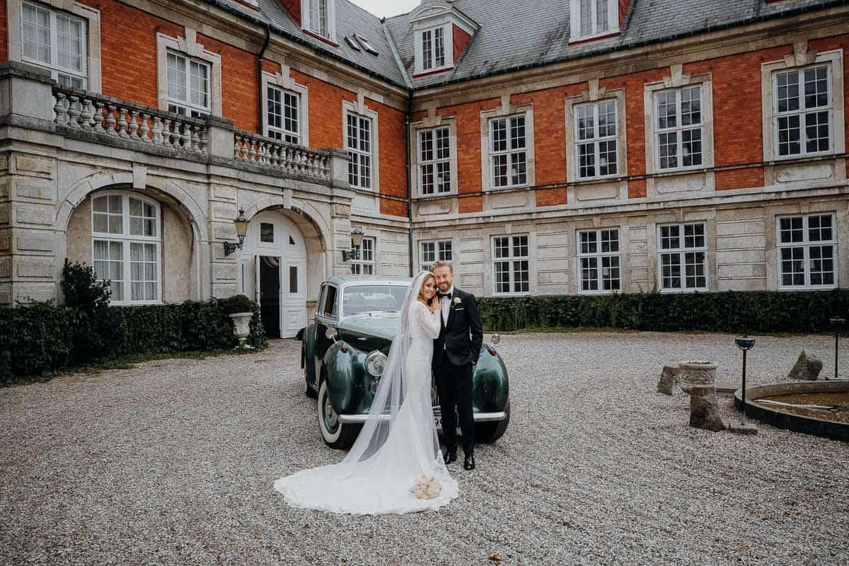 Bryllup Hvedholm Slot på Fyn